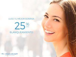Disfruta nuestro 25% de descuento en blanqueamiento dental